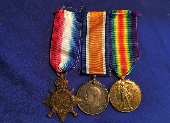 2712 Pte L J Lakeman 17 Bn and 55 Bn (DOW 1 May 1917)