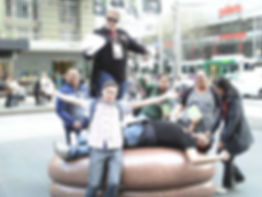 Team Building event The Amazing Race in Bourke St Mall with Sabre
