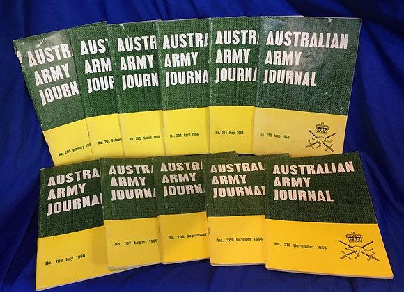 Australian Army 1966 Journals