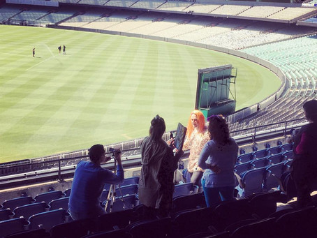 NBN do some team building at the famous MCG