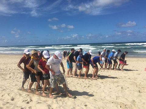 Team Building on the beach Gold Coast -