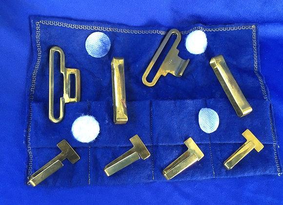 Australian Army Belt Brass Set in felt carrier