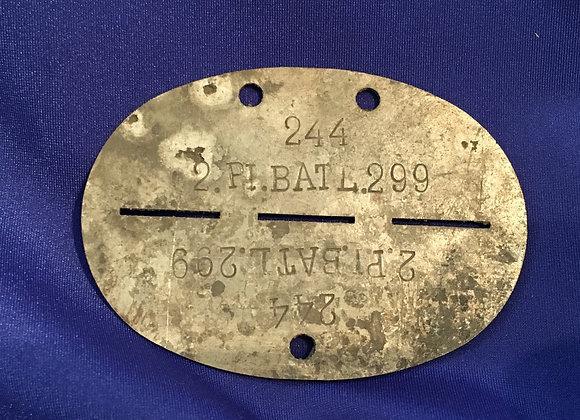 WW2 German Pioneer Identity Tag