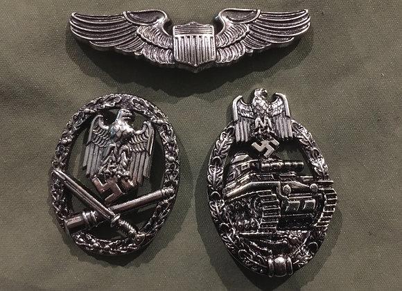 Imitation / Replica WW2 Badge Lot of 3