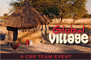 The logo for Sabre's Global Village international charity team building activity