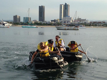 KPMG do some Pirate themed team building on the Gold Coast Broadwater