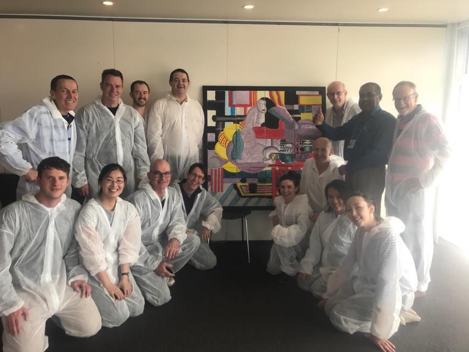 Art as team building in Hobart Tasmania by Sabre
