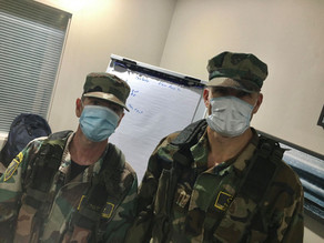 A COVID-Safe military themed event makes the team look a bit M.A.S.H
