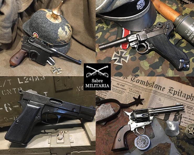 Replica Pistols by Sabre Militaria Austr