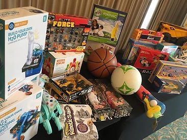 Toys for kid's charity from Team Toy Story, a Sabre team building for charity event