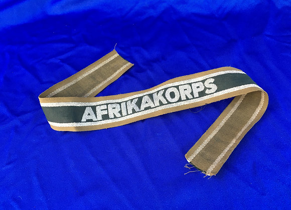 Afrika Korps Cuff Title Un-Issued