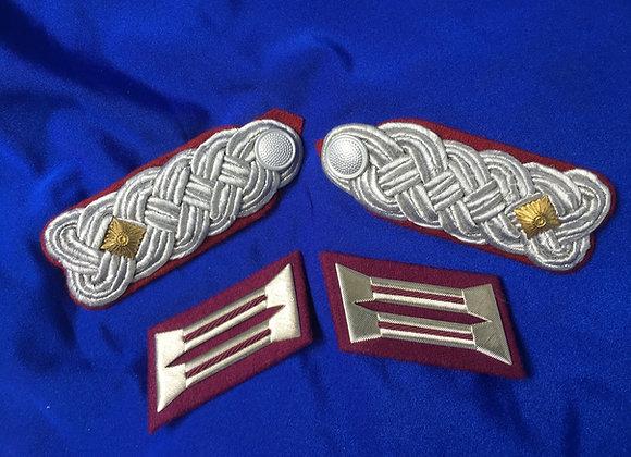 East German Luftwaffe Major Boards and Collar Tabs