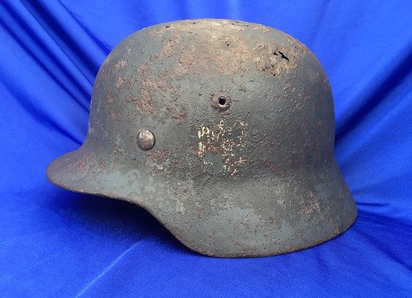 WW2 German Double Decal Stalhelm Battle Relic