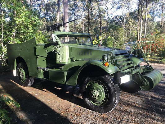 Military Vehicle White Scout Car
