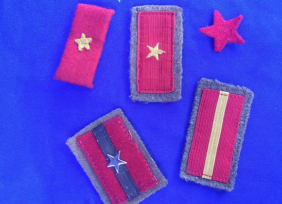 WW2 Japanese Army Rank Collar Tabs
