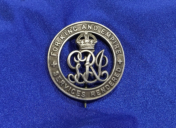 WW1 For Services Rendered Discharge Badge