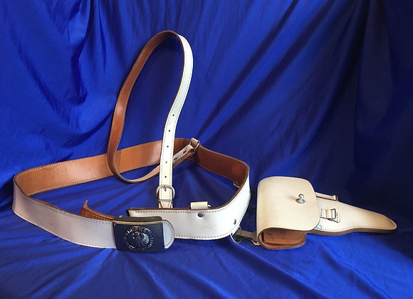 West German Bundeswehr honour guard white leather holster rig for P38