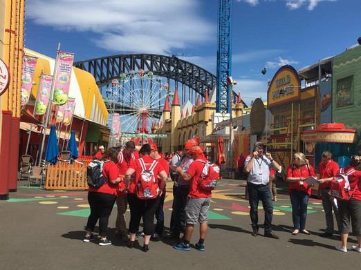 Team Building at Sydney's Luna Park by S