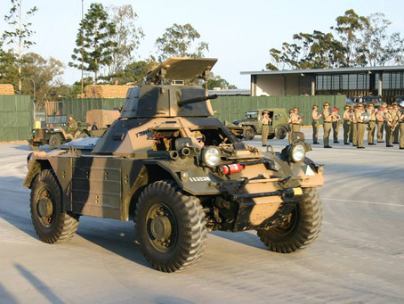 One of Sabre's historic vehicles used in Army Birthday Bash