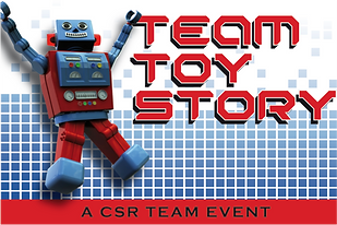 Charity team building event Team Toy Story by Sabre
