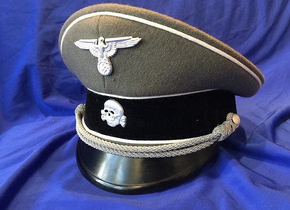 WW2 Waffen SS Officer Visor Cap (Repro)