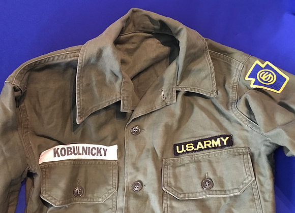 US Army Korean War / Early Vietnam Named Shirt