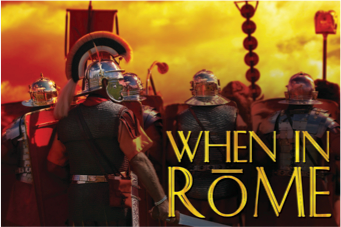 When in Rome team building game by Sabre