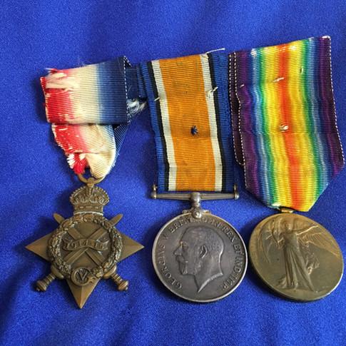 WW1 Gallipoli Veteran Medal Trio