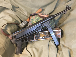 Replica MP40 SMG with working action and folding stock