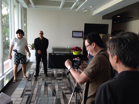 On location filming great TV Ads to capture conference content and team building messages.