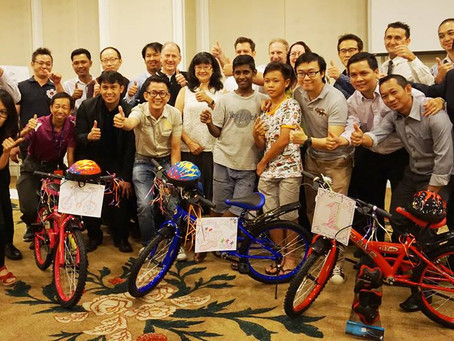 Team Building Malaysia with Charity Bike Build