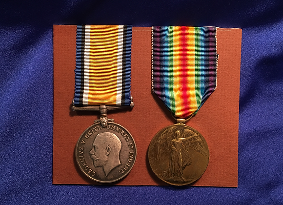 WW1 Pair to CQMS 78 A C Colyer 39 BN AIF