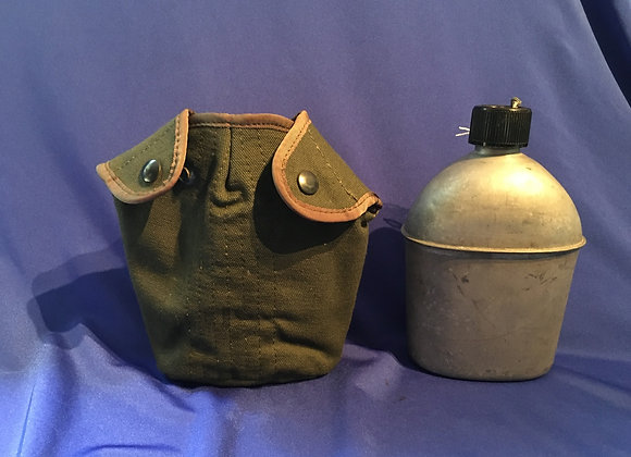 WW2 US Army 1944 Water Bottle with early Vietnam era cover