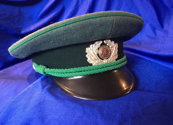 East German Army Border Guard Officer Visor Cap
