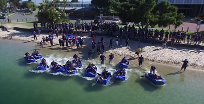 Team building boat race by Sabre on Australia's Sunshine Coast