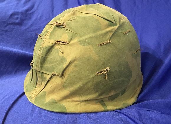 M1 Steel Helmet with Vietnam War Mitchell Cover