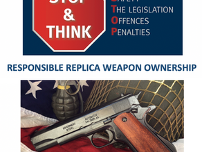 Responsible replica weapon ownership will help all of us to enjoy our hobby