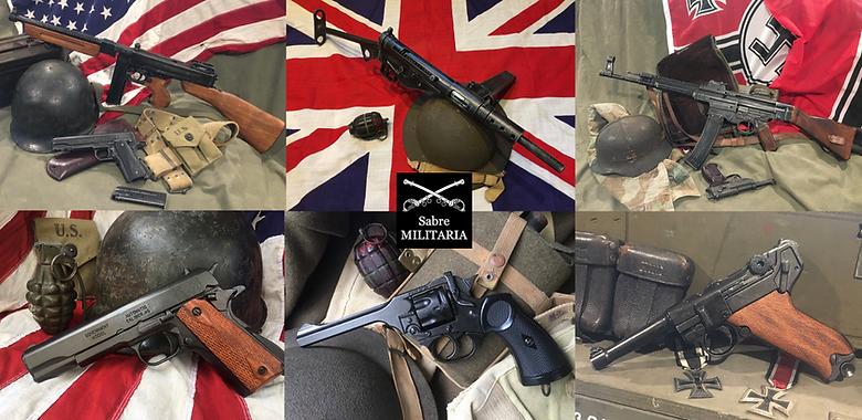 Replica guns Australia of all styles by Sabre Militaria
