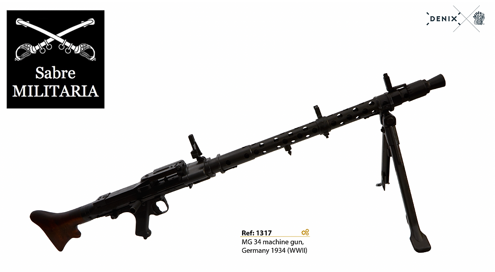 The new Denix is MG34 Replica is due to be in stock with Sabre Militaria mid 2021.