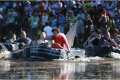 A great team building boat race for 700 people by Sabre on Australia's Sunshine Coast