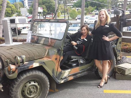 Sabre's Vietnam War era Jeep used for Miss Saigon Musical Launch