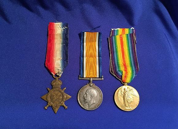 WW1 Medal Trio 3777 GNR A.E.M KIDSON, 3 FD Artillery BDE AIF (WA)