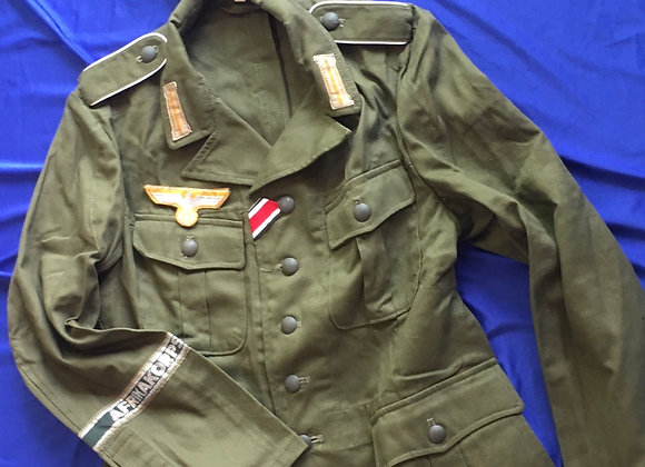 WW2 German Afrika Korps tunic and cap repro size M