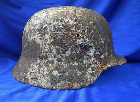 Relic WW2 German M40 Stalhelm remnant Snow Cam (genuine)