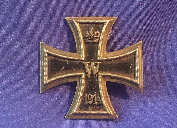WW1 German Iron Cross First Class, maker marked KO, original