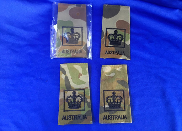 Australian Army WO2 Rank Slides in AMCU and AUSCAM