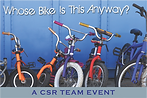 Kids charity bike team building challenge