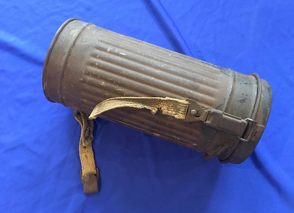 WW2 German 1943 Gas Mask Canister (original)