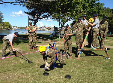Sabre has run many great military themed team building events in Brisbane