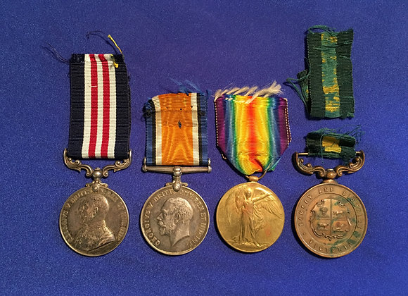 WW1 Military Medal Group  Pte / L-Cpl James Cain MM, 8 Bn AIF and 24 Bn AIF